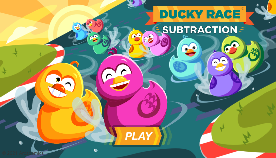 ducky race arcademic skill builders