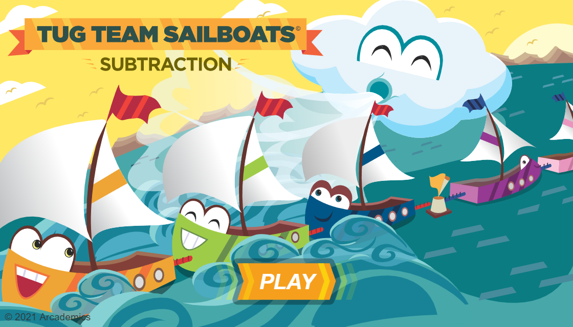 sailboat subtraction arcademic skill builders